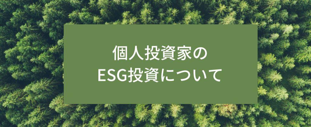 個人投資家のESG投資について サムネイル