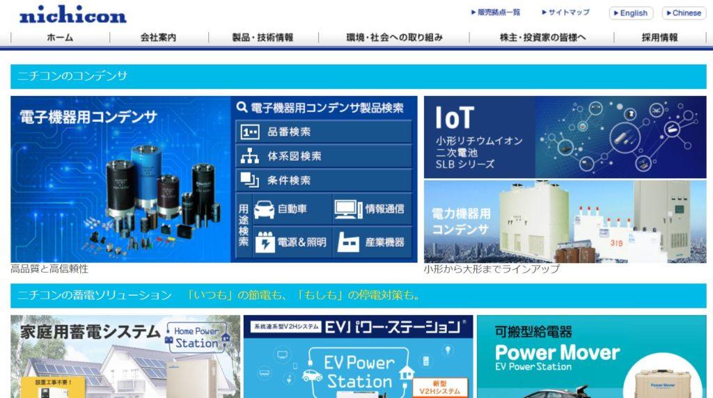 企業分析-ニチコン株式会社(6996)  画像1